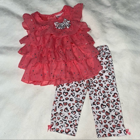 Spring outfit size 18 months pretty coral